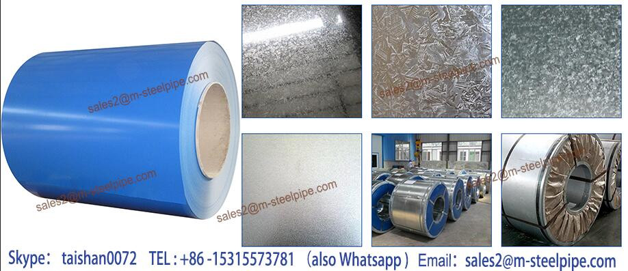 Wall and roof/ ppgi steel , pre painted galvanized metal steel in coil for roof sheet zinc 40 g-275 g
