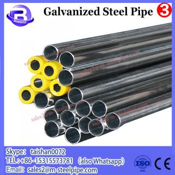 hot dip circular galvanized steel pipe for solar farm post and rail, 2 and 3inch od 20feet