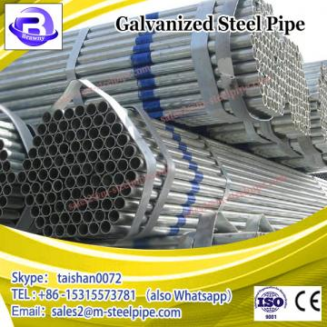 A53B round hot dipped galvanized steel pipe/half round steel tube