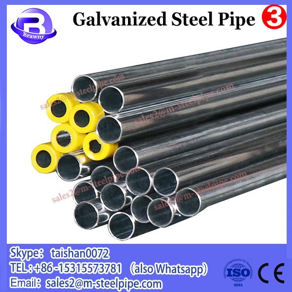 construction material tube 1 1/2inch Greenhouse steel pipe, 20-323.9mm SCH40 hot dip galvanized steel pipe size #2 image