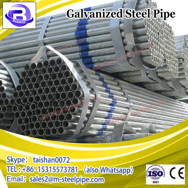 construction material tube 1 1/2inch Greenhouse steel pipe, 20-323.9mm SCH40 hot dip galvanized steel pipe size #1 image